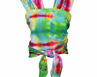 Organic Cotton Baby Wrap Carrier Hand Tie Dyed