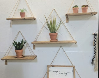 Hanging Shelves rope shelves | etsy