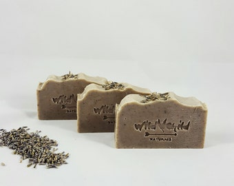 Luscious Lavender All Natural Handmade Cold Process Olive & Coconut Oil Pure-Castile Bar Soap - 4 oz. Chemical Free. Sensitive Skin