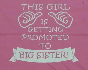 Toddler promoted to big sister/brother toddler shirt