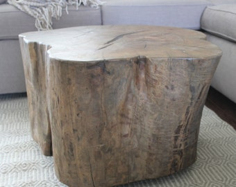 Sold* Tree stump coffee table