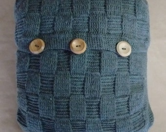 SLATE CUSHION - free UK shipping - woven basketweave cushion