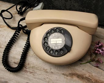 vintage phone vintage Telephone rotary phone Retro Home decor Old Phone Retro phone Soviet Phone Hotel Phone Rare Phone old desk phone
