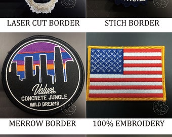 custom embroidered badges, custom cloth embroidered badges patch no minimum