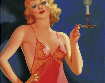 Vintage Pin Up Girl 1612 Pinup Poster  A3 Print