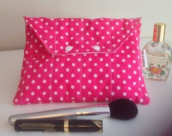 Wipe clean make up bag, quilted cosmetic bag, baby wipe case, toiletries bag, wash bag, travel pouch