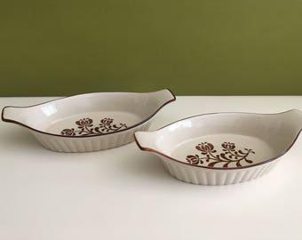Vintage Small Stoneware Baking Dishes