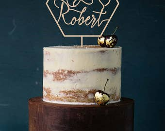 Geometric Wedding Cake Topper Modern  Wedding  Cake Topper Names Modern Geometric Wedding Wood Cake Topper