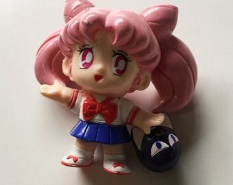 Sailor Moon Chibiusa Figurine with Luna P