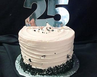 25th Birthday Cake Topper/Number 25 Cake Topper