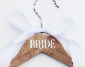 Personalized Vinyl Lettering Decals for Wedding Hangers - Name Only