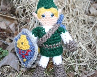 Crochet Link Amigurumi, The Legend of Zelda, Ocarina of Time Style