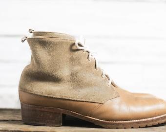 30% OFF | Vintage leather boots / Dress boots / Vintage ankle boots / 8 Men