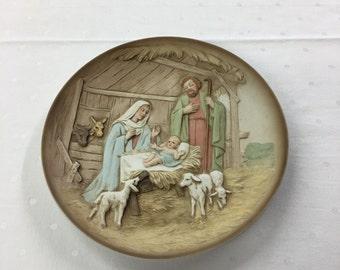 Manger Scene Ceramic Plate