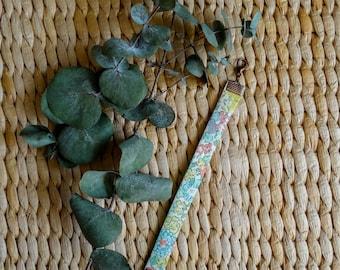 Cuff, Liberty London Michelle B, flowers, mint green, pale yellow and pink
