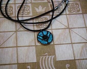 Lagertha bronze vikings shield pendant painted