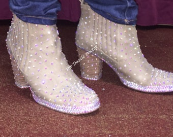 Bling Boots, Bling shoes, Bling Booties, Swarovski shoes, Swarovski shoes, Strassed Shoes, Strassed Heels, Swarovski, Swarovski Boots, Boots