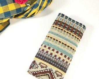 Tribal Wallet | Pastel Fabric Wallet | Wallet for Girl | Women Wallet | Unique Wallet | Cute Wallet | Flap wallet | Boho Long Wallet | Purse