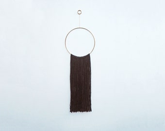 Black & Brass Hoop Wall Hanging