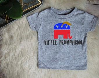 Little Trumplican Baby Tee Bodysuit Republican Donald Trump Election 2016 Shirt