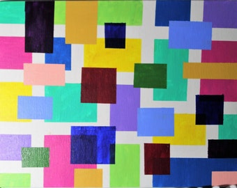 Original Abstract Painting - Acrylic on 11 X 14 canvas panel