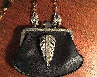 Vintage coin purse pendant