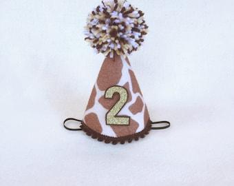 Giraffe Mini Felt Birthday hat