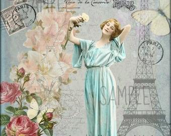 Vintage Elegance, Collage Altered Art Ephemera Altered Art, Instant Download, Digital Original Sheet