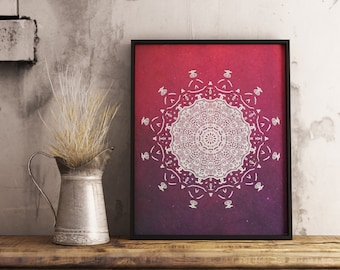 Mandala , Mandala art , printable mandala ,print, illustration , drawing , doodle art , meditation , boho art , inspiration , galaxy texture