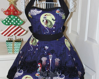 Nightmare Before Christmas Santa Jack Holiday Apron (Sweetheart Neckline)