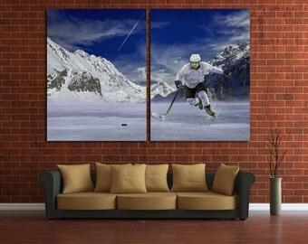 Hockey Photo Hockey Print Hockey Poster Hockey Canvas Winter Sport Hockey Wall Art Hockey Canvas Art Hockey Decor NHL Ice Hockey NHL Print