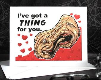 The Thing-John Carpenter-Monster Horror Movie Inspired Greeting Card