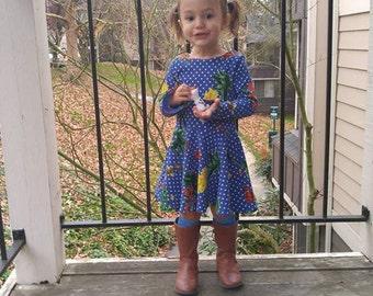 Sweet Heart Dress,  Retro Dress, Polka Dot Dress, heart dress, Stretchy Knit Dress,