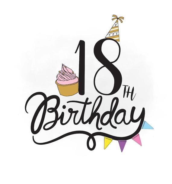 18. Geburtstag SVG Clipart Geburtstag Zitat Kuchen Svg