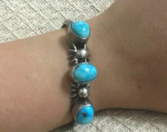 AUTHENTIC Handmade Native American Turquoise Navajo Bracelet
