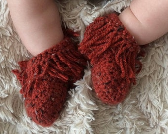 Baby Moccasins, Newborn, 0-3, 3-6, 6-12, baby booties, baby gift