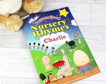 Personalised Childrens Nursery Rhyme Books, For Boys and Girls 19 Nursery Rhymes