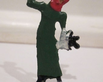Made in Germany Christmas Flat Woman Blowing in the Wind Figure