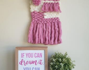 Pink Weave | Wall Hanging Decor