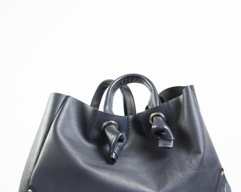 Large leather handbag FIRST