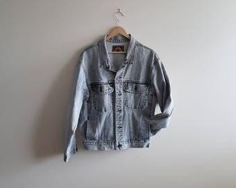 Vintage grey denim jacket, acid wash jean jacket, 90s denim jacket, 80s denim jacket