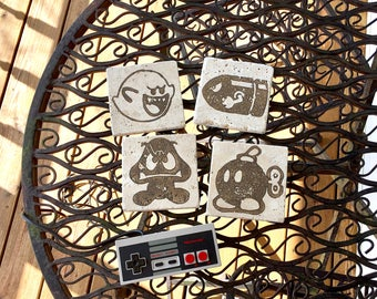 Mario Bad Guys Stone Coasters