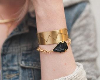 Arrowhead Link Bracelet - Boho Gemstone Jewelry