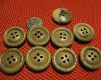 Wood buttons   9  wood buttons  free shipping in u s a