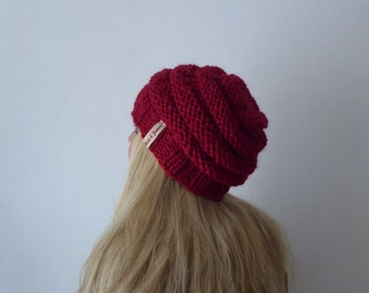 Beanie, + colors, handknit, chunky knit, winteraccessoires, ring knit, winter hat