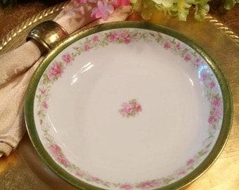 """Coupe Soup Bowl Austrian Fine Porcelain ~ MZ Austria Altrohlau 7.5"""" Diameter"""