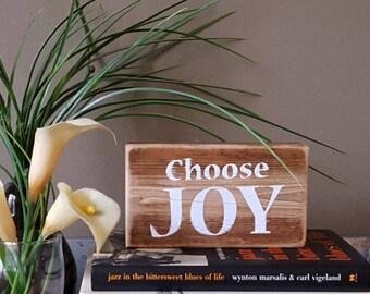"6"" Choose Joy Wooden Block"