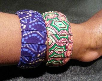 2 Piece Ankara Bangle Set