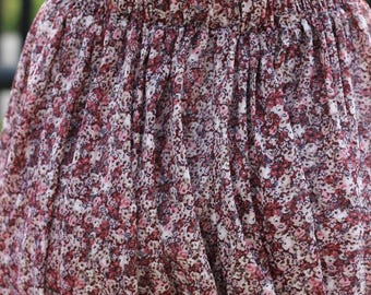 Ditsy Floral Pleated Mini Skirt