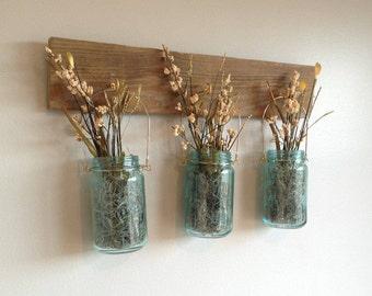 Vintage Jars with Flowers